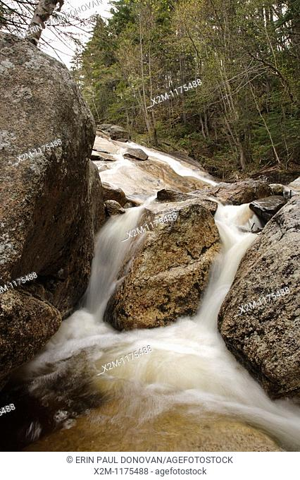 Cascade along the South Branch of Hancock Brook in Lincoln, New Hampshire USA  This river is located near the Kancamagus Highway route 112 which is one of New...