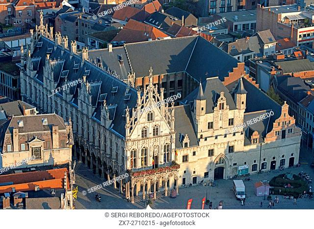 Stadhuis (Town Hall) and Palace of the Great Council in the Grote Markt (Main Square), Mechelen (Malines), Flanders, Belgium