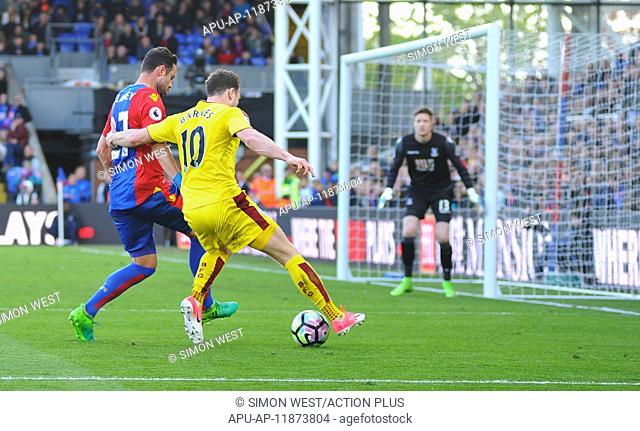 2017 EPL Premier League football Crystal Palace v Burnley Apr 29th. April 29th 2017, Selhurst Park, London England; EPL Premier league football
