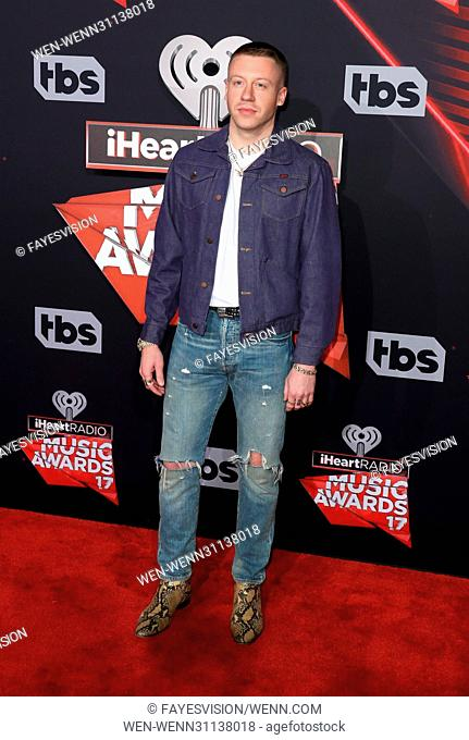 2017 iHeartRadio Music Awards held at The Forum - Arrivals Featuring: Macklemore Where: Los Angeles, California, United States When: 05 Mar 2017 Credit:...