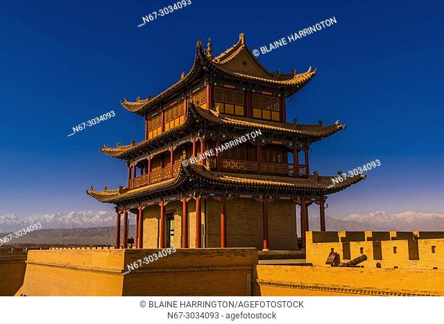 Jiayuguan Fort is the western end of the Great Wall built in the Ming Dynasty (1368 - 1644). It was an important military fortress and key waypoint of the...