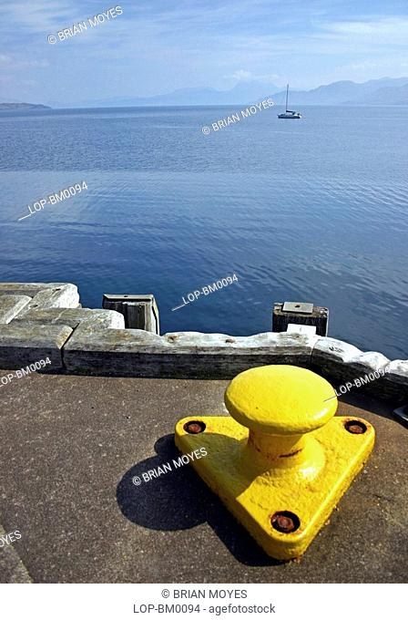 Scotland, Highland, Isle of Skye, On the dockside at Armadale Pier