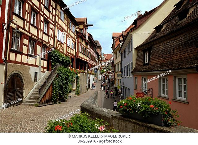 Old part of town, Meersburg, Baden Wuerttemberg, Germany, Europe