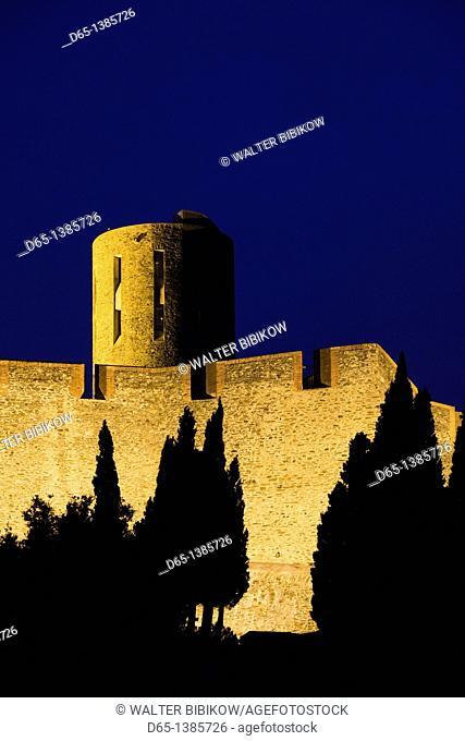 France, Languedoc-Roussillon, Pyrennes-Orientales Department, Vermillion Coast Area, Collioure, Fort St-Elme, 13th century