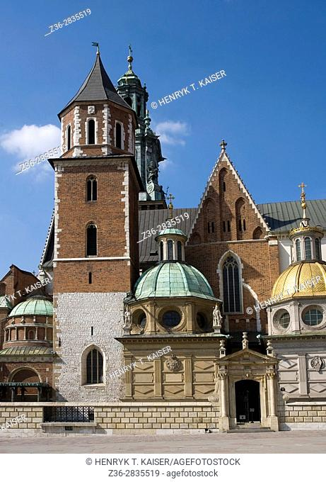 Sigismund s Cathedral and Chapel as part of Royal Castle at Wawel Hill, Krakow, Poland