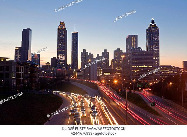 USA, Georgia, Atlanta City , Down Town Skyline