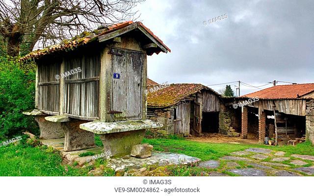 Hórreo in Palas de Rei, Road to Santiago, Lugo province, Spain