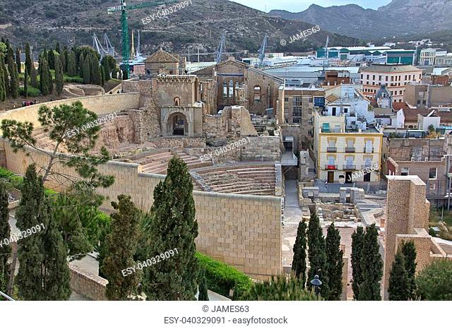 Roman amphitheater of Cartagena in Spain