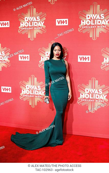 Teyana Taylor arrives at VH1 Divas Holiday: Unsilent Night