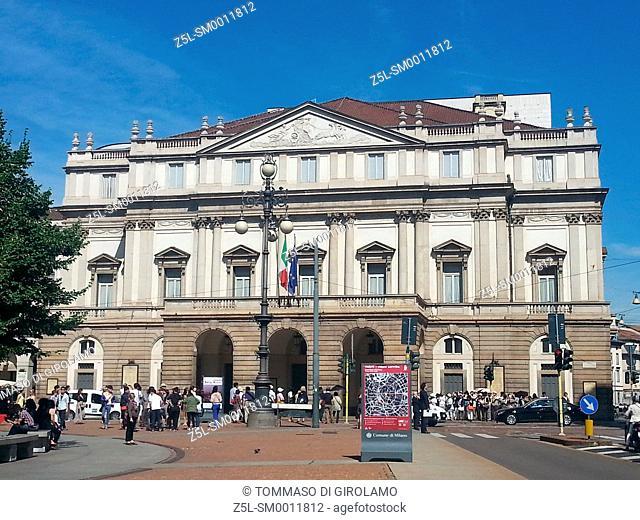 Italy, Lombardy, Milan, Scala theatre