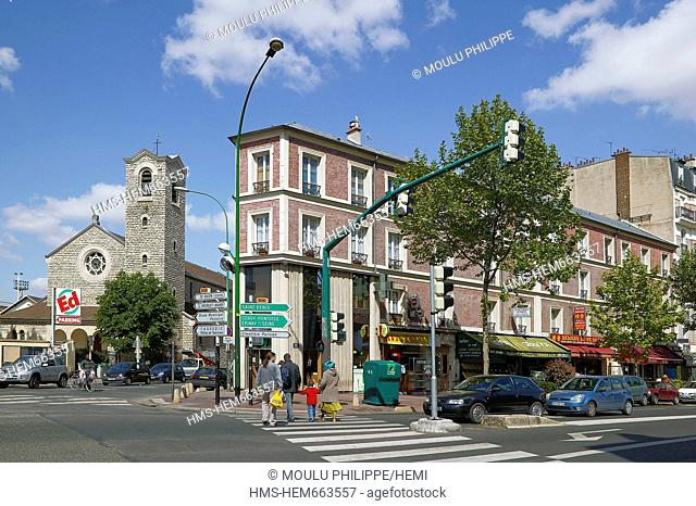 France, Seine Saint Denis, Saint Ouen, Avenue Michelet, Sacre Cur church