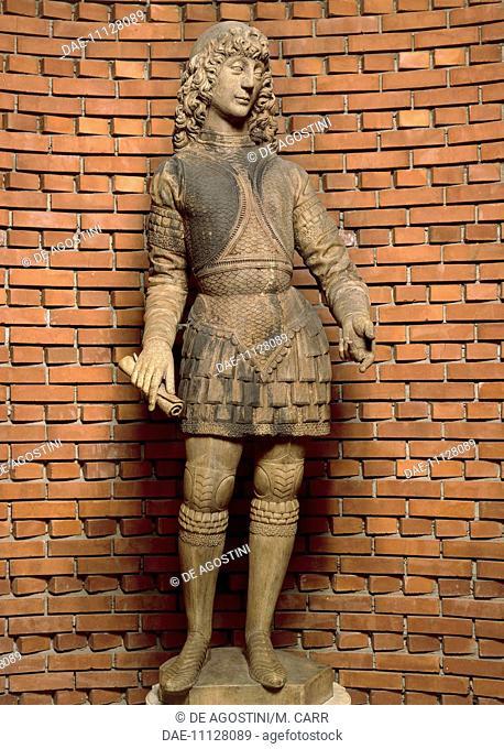 Statue of Galeazzo Maria Sforza (Fermo, 1444-London, 1476), Duke of Milan.  Milan, Museo Del Duomo Di Milano (Art Museum)