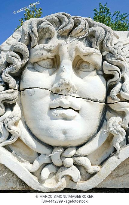 Medusa head, Temple of Apollo, Didyma, Anatolia, Turkey
