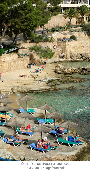 Beach near Cala Vinyes, in the touristic city of Calvià. Majorca island, spain, europe