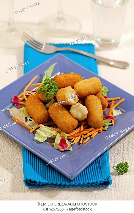 Potato and goat cheese croquettes
