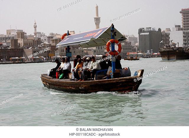 A BOAT IN DUBAI CREEK IN DEIRA, DUBAI