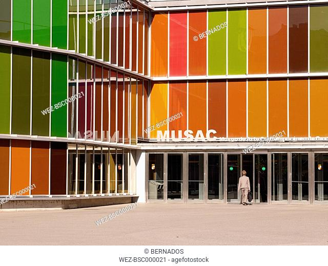 Spain, Castile, Leon, View of Museo de Arte Contemporaneo de Castilla y Leon