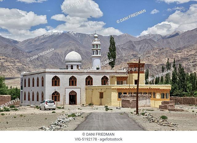 Chushod Mosque (Chushod Masjid) in the small village of Chushod, Ladakh, Jammu and Kashmir, India. - CHUSHOD, LADAKH, India, 07/07/2014