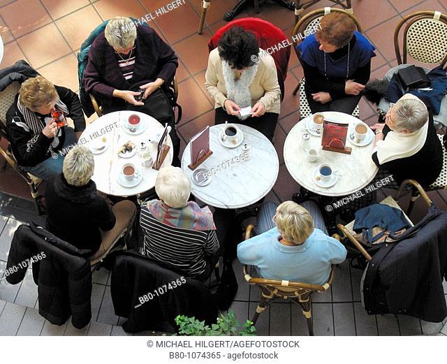 Coffee party, coffee break, coffee freaks, friends, Kiel, Germany