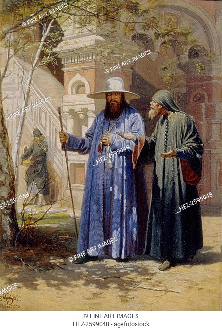 Patriarch Nikon in the New Jerusalem Monastery, 1867. Found in the collection of the State Tretyakov Gallery, Moscow