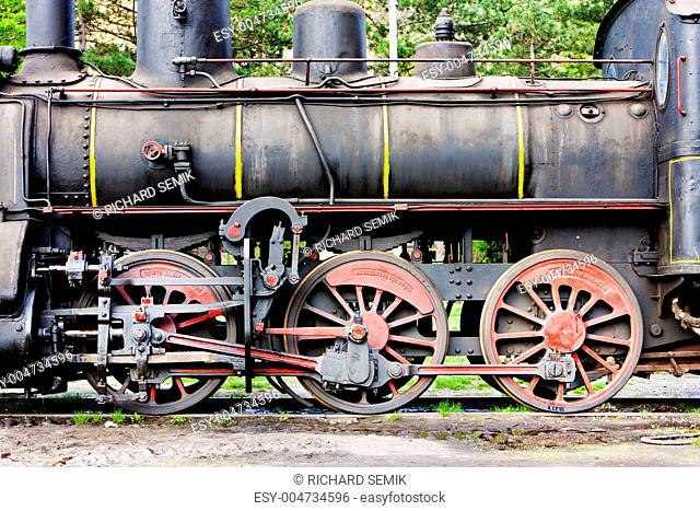 detail of steam locomotive 126.014, Resavica, Serbia