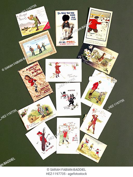 Greetings Cards C1905 C1920 All With A Golfing Theme