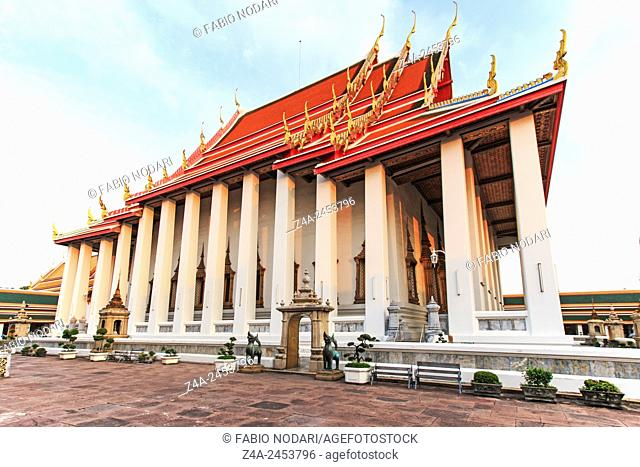 Bangkok, Thailand: Wat Pho known also as the Temple of the Reclining Buddha