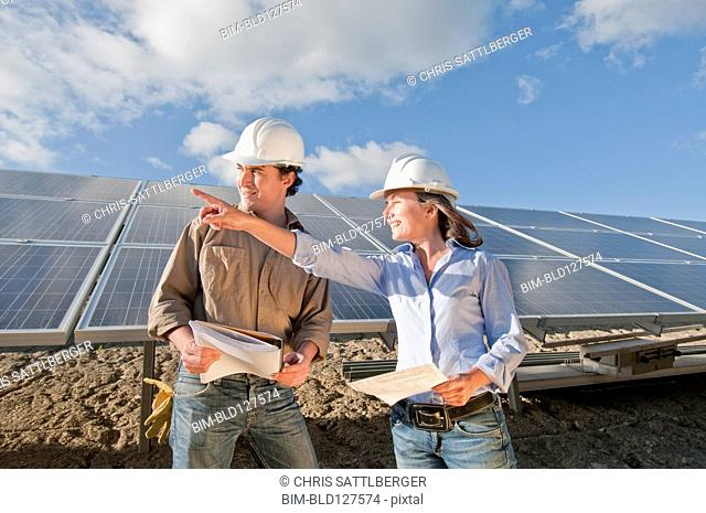 engineers in solar plant