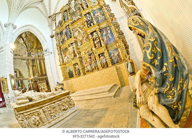 Capilla de los Alderete, Church-Museum of San Antolin, 16th Century, Tordesillas, Valladolid, Castilla y León, Spain, Europe