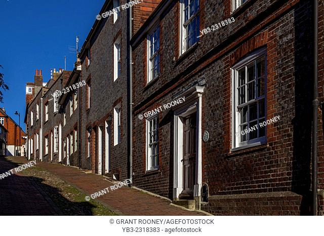 A View Looking Up Historic Keere Street, Lewes, Sussex, England