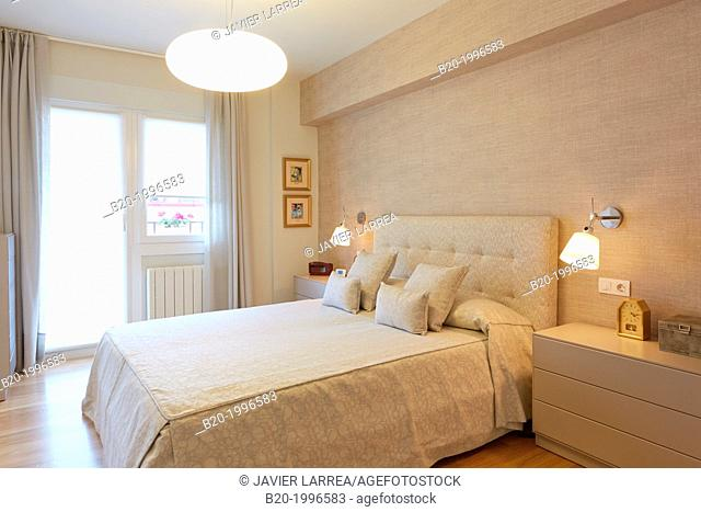 Bedroom, Interior design, Home. Basque Country. Spain