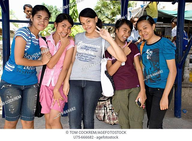 teenagers in Kupang, West Timor, Indonesia