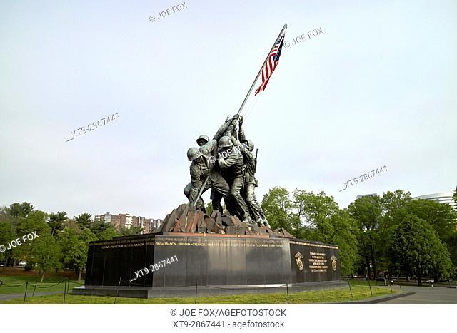 United states marine corps war memorial iwo jima statue Washington DC USA