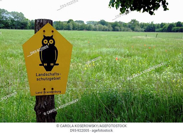 D, Germany, Brandenburg, Potsdam, Nature, nature conservation, nature reserve, shield