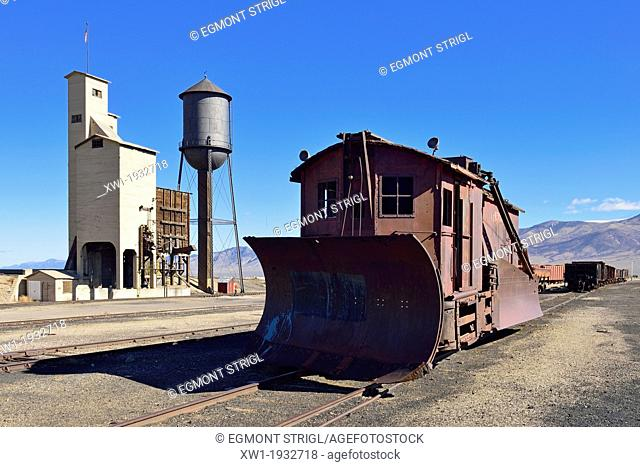 historic snowplow at Nevada Northern Railway Museum, Ely, Nevada, USA, North America