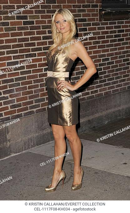Paris Hilton at talk show appearance for The Late Show with David Letterman - THU, Ed Sullivan Theater, New York, NY February 17, 2011