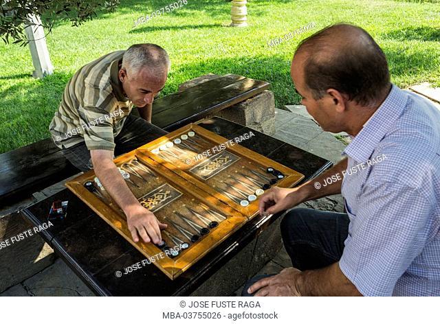 Azerbaijan, Baku City, Old Baku City, UNESCO World Heritage Site, Playing backgammon