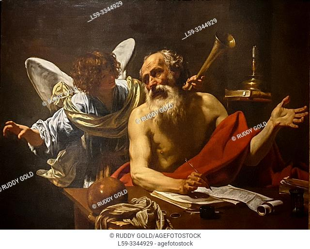 'Saint Jerome and the Angel', 1620/21, Simon Vouet (1590-1649)