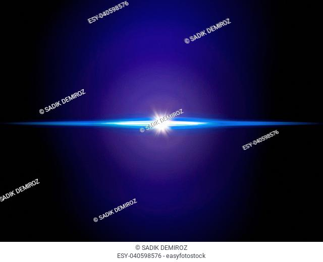 background image of defocused abstract lights and beam of light over blue background