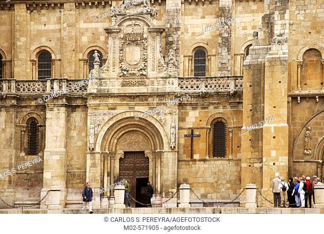 Church detail in Leon, Spain