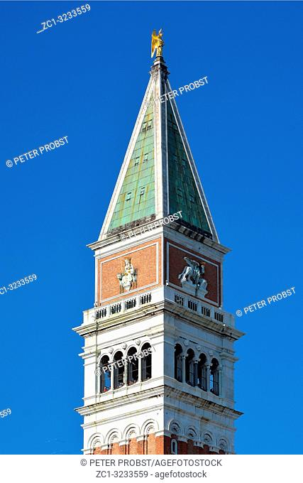 Bell tower Campanile on St. Marksâ. . s square of Venice in Italy - Italy