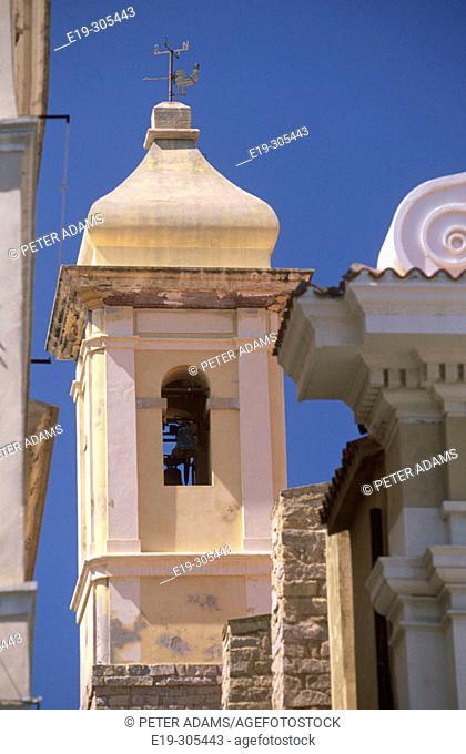Architectural detail in La Maddalena. Sardinia, Italy