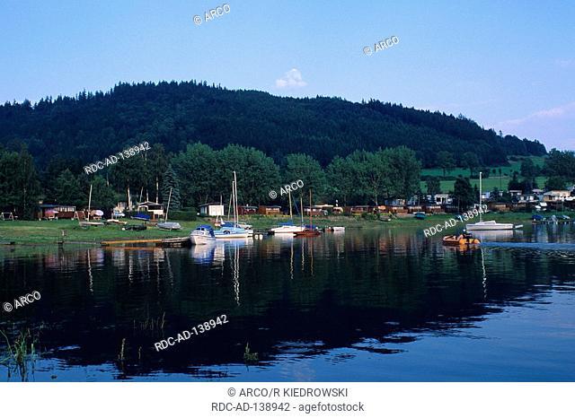 River Saale reservoir Bleichloch Thuringia Germany dam Bleichloch
