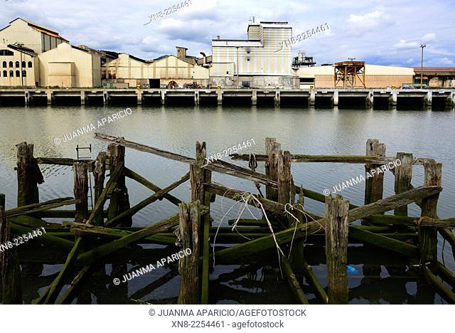 Industrial Zone, Bilbao, Bizcay, Basque Country, Euskadi, Spain, Europe