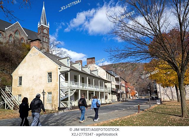 Harpers Ferry, WV - Harpers Ferry National Historical Park. In 1859 abolitionist John Brown led a raid on the U. S. Armory here in an unsuccessful attempt to...