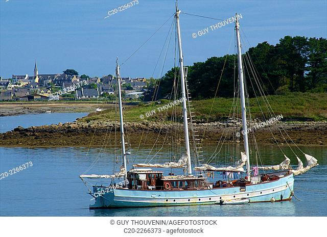 Abbot Jaouen' boat, Aber' Wrach, Brittany, Finistere 29, France