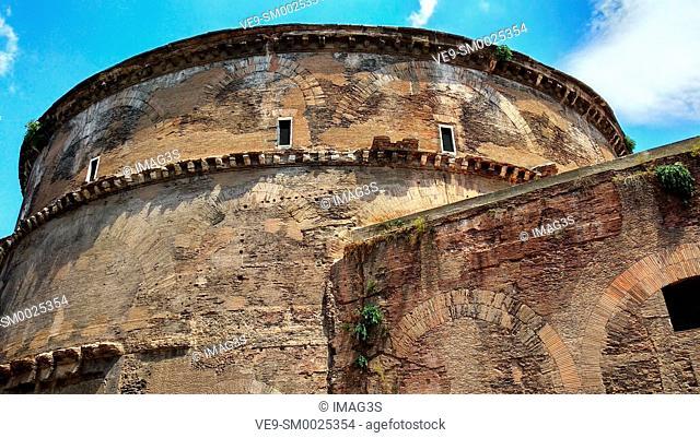 Pantheon backside, Rome, Italy
