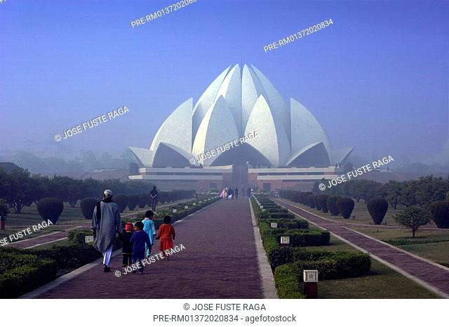 The Bahai temple in Chiragh City near New Delhi City, India, Asia