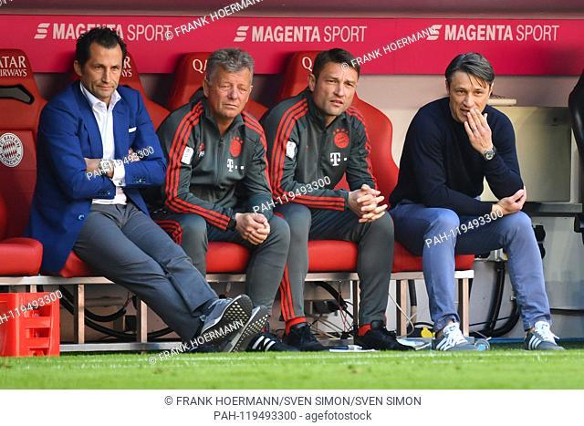 v.re:Niko KOVAC (coach Bayern Munich), Robert KOVAC (coach FC Bayern Munich), Peter HERMANN (coach FCB), Hasan SALIHAMIDZIC (sports director FC Bayern Munich)...