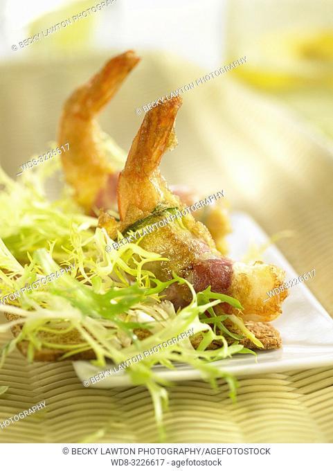 montadito-calabacin-gamba / montadito of zucchini and prawn